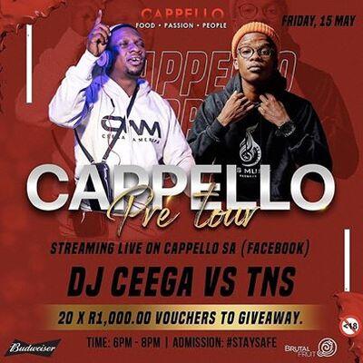 Ceega & TNS – Cappello Pre Tour Live Mix