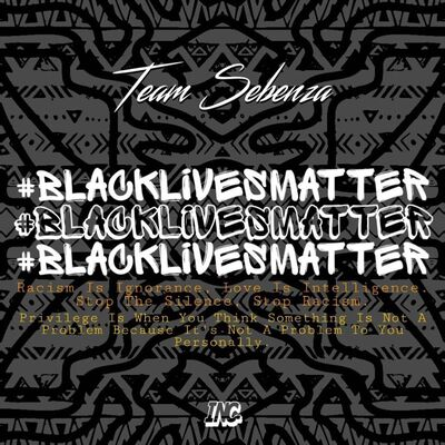 Team Sebenza – Black Lives Matter